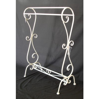 BATHROOM TOWEL RACK - ANTIQUE WHITE