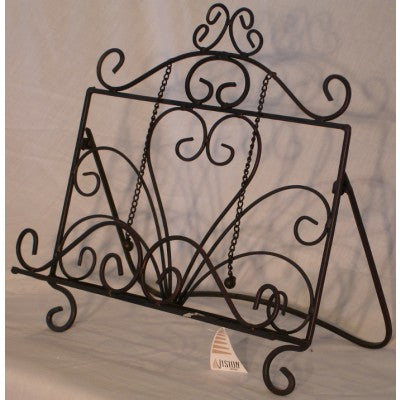 RECIPE BOOK STAND METAL - BLACK/BROWN - Luxe Living