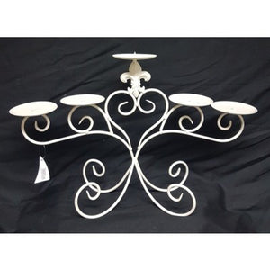 METAL CANDLE HOLDER CREAM - Luxe Living