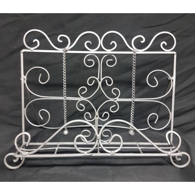 RECIPE BOOK STAND METAL SILVER - Luxe Living