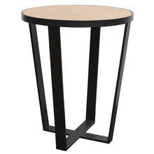 Load image into Gallery viewer, RATTAN/IRON SIDE TABLE