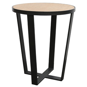 RATTAN/IRON SIDE TABLE