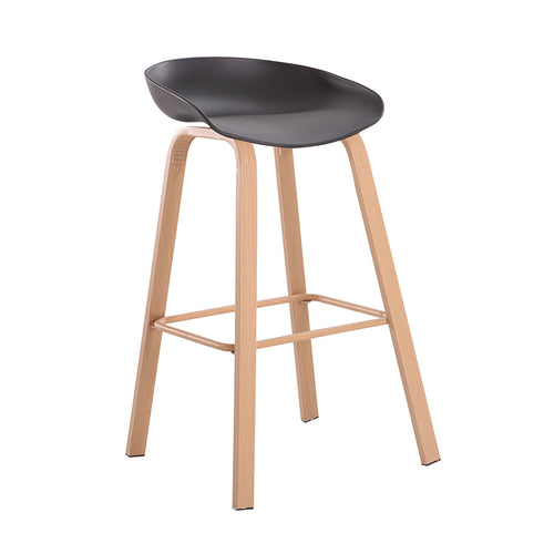 BENSON BAR STOOL BLACK - Luxe Living