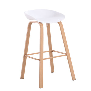 BENSON BAR STOOL WHITE - Luxe Living
