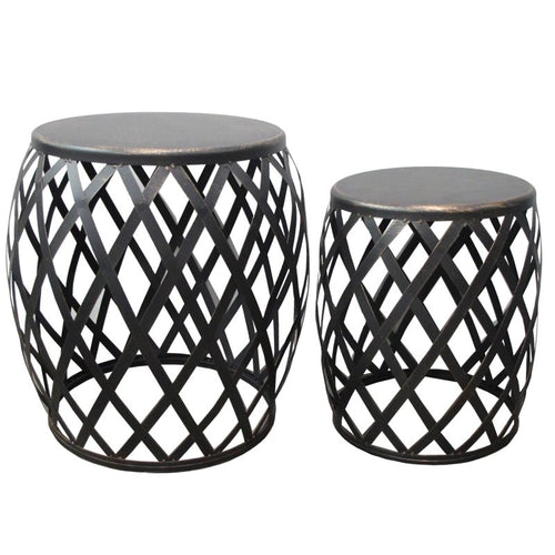 LAMAI SET 2 TABLES BURNT GOLD - Luxe Living
