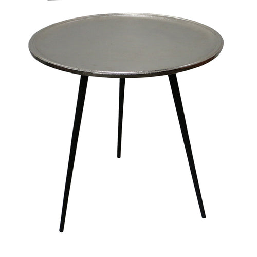 MARSHAL ALUMINIUM TABLE SILVER - Luxe Living