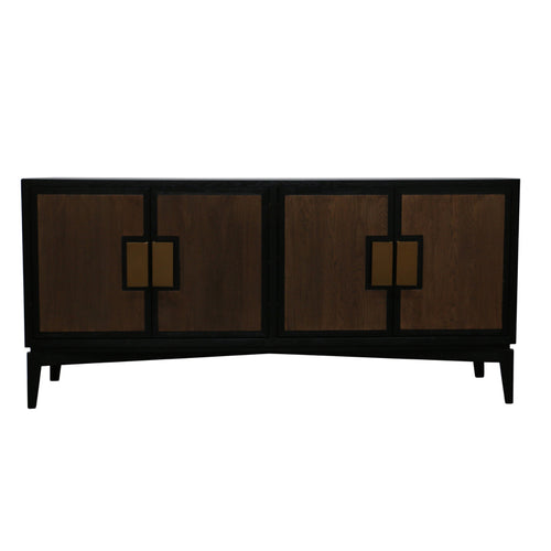 MADISON AVE SIDEBOARD - BLACK, NATURAL & GOLD - Luxe Living