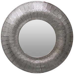 MARRAKESH MIRROR ROUND SILVER - Luxe Living