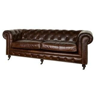 HAMPTON COURT 3 SEATER VINTAGE CIGAR - Luxe Living
