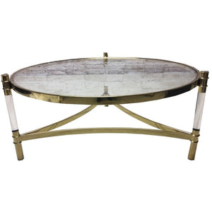 MONTANA COFFEE TABLE - GOLD STEEL - Luxe Living
