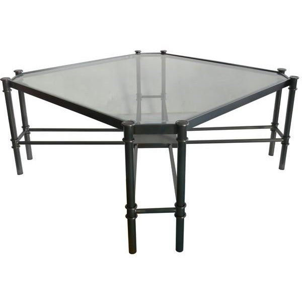 COFFEE TABLE JADE - GUN METAL SS / GLASS - Luxe Living
