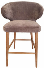 Load image into Gallery viewer, VENUS BARSTOOL GREY CHENILLE