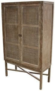 KUTA RATTAN / MANGO WALL UNIT - GREY / WHITE