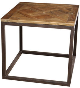 SIDE TABLE PARQUET TOP