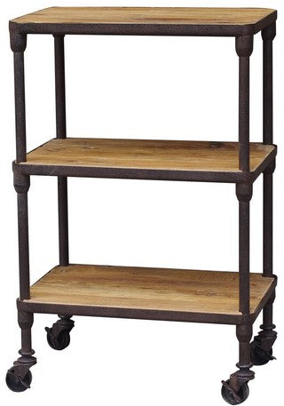 INDUSTRIAL 3 TIER SHELVING UNIT OLD PINE