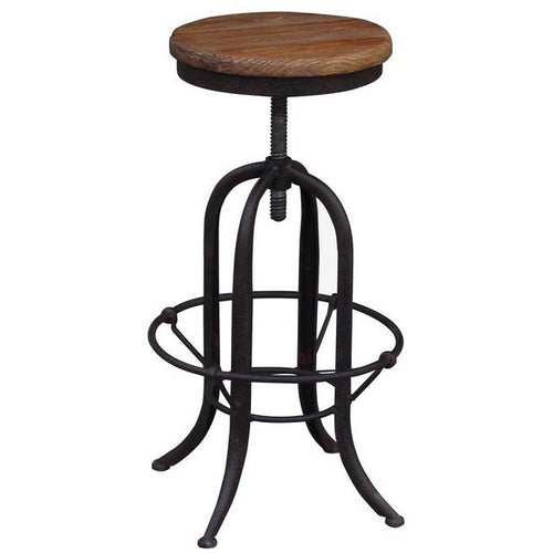 RECLAIMED ELM BARSTOOL OLD ELM - Luxe Living