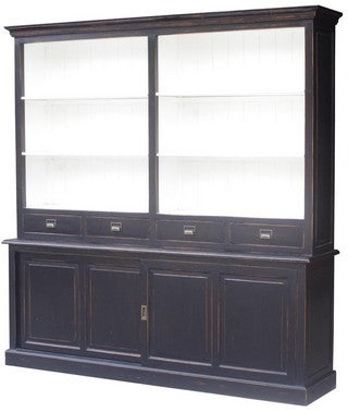 BLACK BOOKCASE POPLAR/BLACK WASH