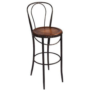 BISTRO COUNTER BAR STOOL - METAL/FIR - Luxe Living