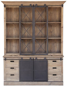 WALL UNIT WITH SLIDING BARN DOORS