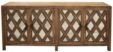 Load image into Gallery viewer, 4 DOOR SIDEBOARD, MIRRORED DOORS - RECLAIMED ELM
