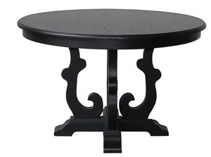 Solid Round Dining Table - Black