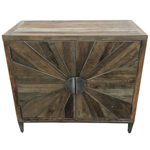 AVENUE CONSOLE - RECYCLED ELM & IRON - Luxe Living