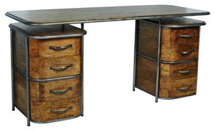 FRENCH ART DECO DESK - RUSTIC