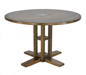 Solid Round Dining Table - Brown