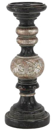 ANTIQUED PEWTER CANDLE STICK