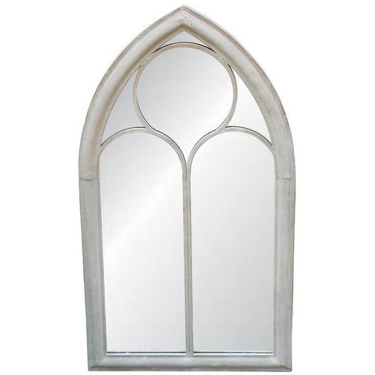 OUTDOOR MIRROR - ANTIQUE WHITE FINISH - Luxe Living