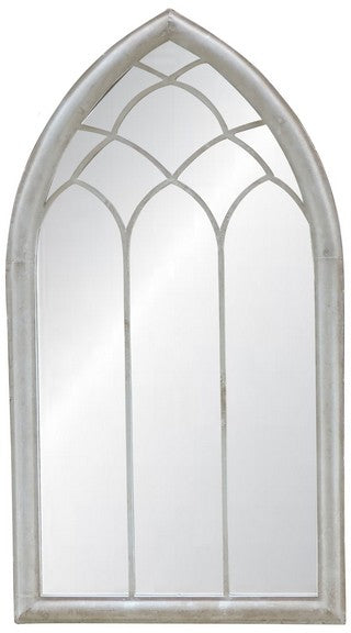 OUTDOOR MIRROR - ANTIQUE WHITE FINISH