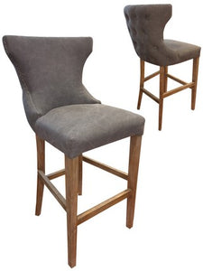 MIAMI BARSTOOL GREY CANVAS / OAK