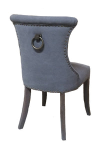 MIAMI DINING CHAIR GREY CANVAS / OAK