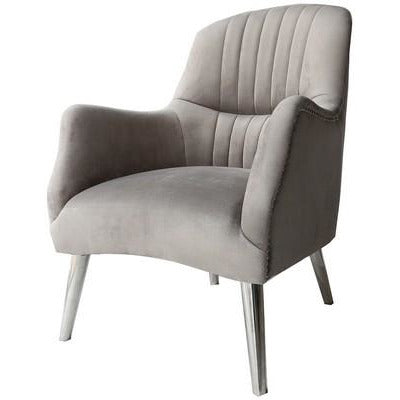 HUDSON OCCASIONAL CHAIR - PEWTER VELVET - Luxe Living