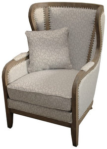 EL DORADO WING BACK W / AMERICAN OAK FRAME & BACK CUSHION