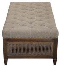 Load image into Gallery viewer, CHELMSWOOD OTTOMAN / COFFEE TABLE W / AMERICAN OAK FRAME & RATTAN