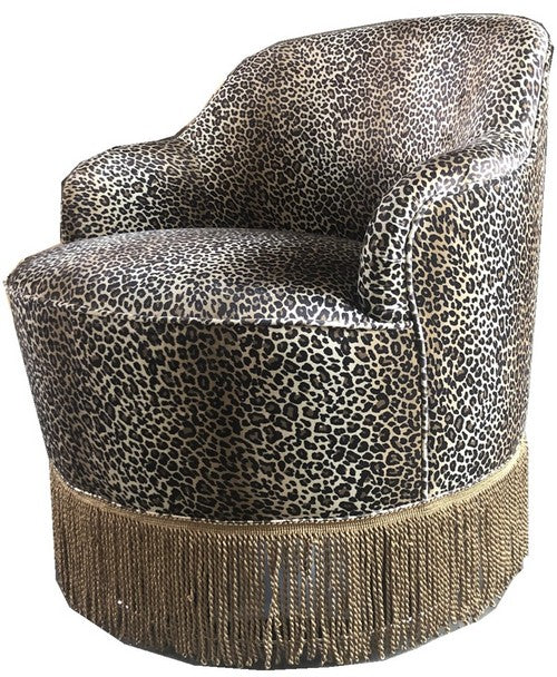 HARLOT SWIVEL CHAIR WITH FRINGE