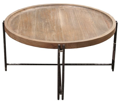 ROCCOCO COFFEE TABLE - ELM / IRON
