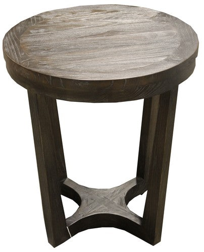 EATON SIDE TABLE - ELM / CHARCOAL