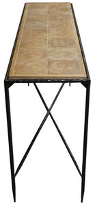OUTBACK HALL TABLE - ELM / IRON