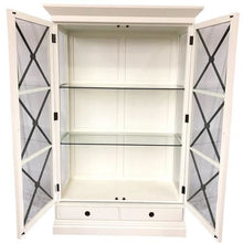 Load image into Gallery viewer, CHATEAU WALL UNIT - WHITE POPLAR / BLACK CROSS - Luxe Living