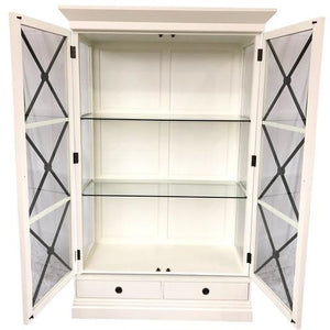 CHATEAU WALL UNIT - WHITE POPLAR / BLACK CROSS - Luxe Living