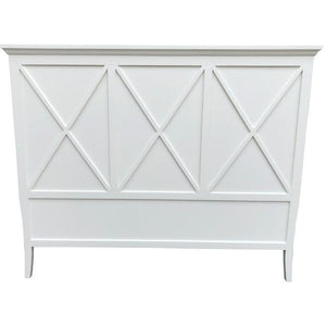 VILLA QUEEN HEADBOARD - WHITE POPLAR - Luxe Living