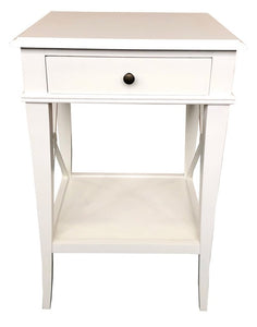 VILLA BEDSIDE TABLE - WHITE POPLAR