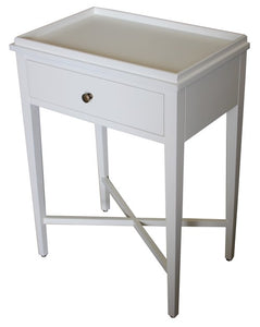 BORDEAUX BEDSIDE TABLE - WHITE POPLAR