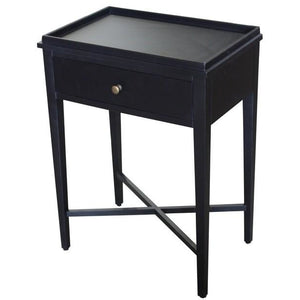 BORDEAUX BEDSIDE TABLE - BLACK POPLAR - Luxe Living