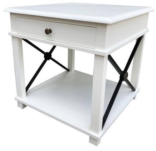 CHATEAU LAMP TABLE - WHITE