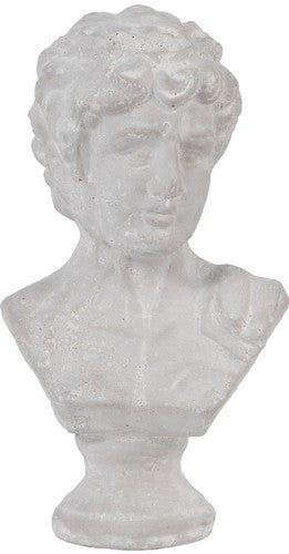 CERAMIC BUST MALE HEAD - SMALL