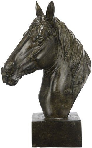 HORSE SCULPTURE ON BASE