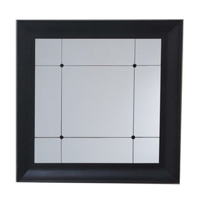 BLACK FRAME WITH BUTTON MIRROR
